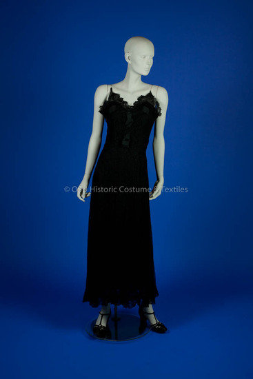 Chanel, Coco; 1936 Black Lace Dress