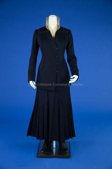 1915 Navy Wool Walking Suit