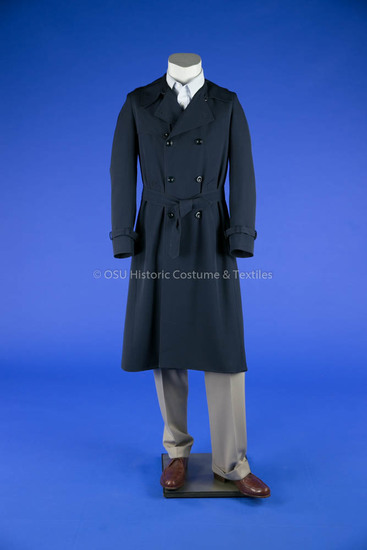 Balmain Navy Trench Coat