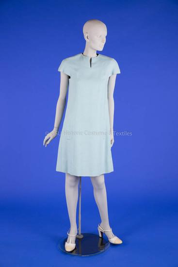 Geoffrey Beene Light Blue Linen Dress