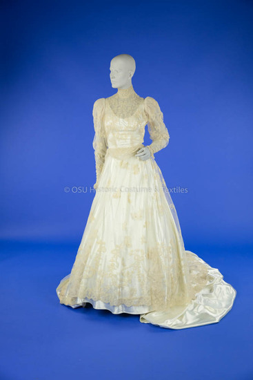 1951 Satin and Lace Wedding Dress