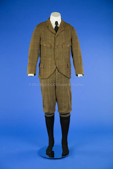 1910 Men's Brown Wool Cycling Suit