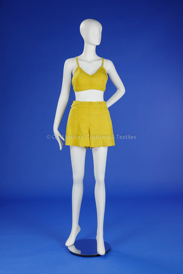 1940s Yellow Two-Piece Bathing Suit
