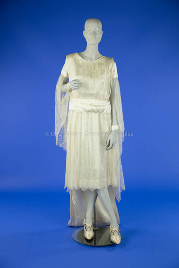 1922 Silk Satin and Lace Wedding Dress