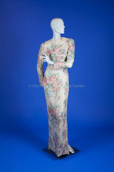 Galanos, James; Ivory Silk Dress