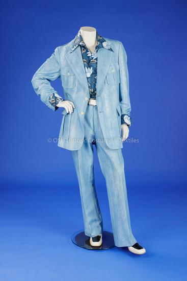 Man's Light Blue Suit