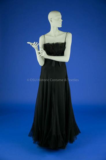 Geoffrey Beene Black Organza Dress