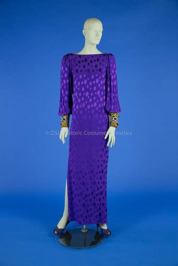 De la Renta, Purple Evening Gown