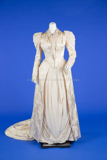 1891 Silk Wedding Dress
