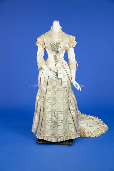 1881 Silk Beaded Wedding Dress