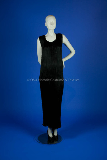 Fortuny, Mariano; Black Silk Delphos Gown