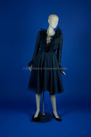 De La Renta, Oscar; Blue silk dress