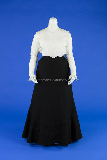 Shirtwaist and Wool Walking Skirt