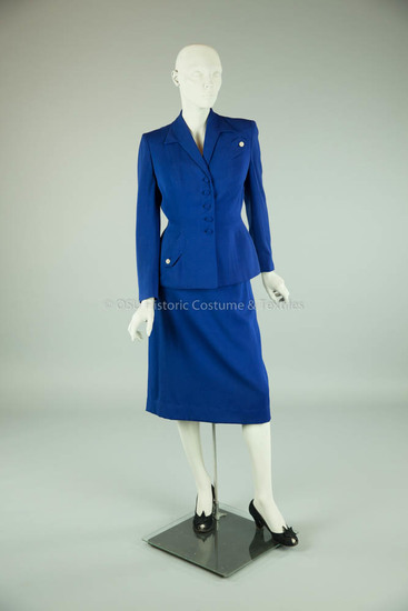 1930's Blue Wool Suit