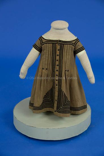 1868 Boy's Brown Wool Dress