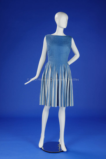 Blue/White Vera Maxwell Dress