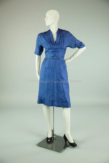 Adele Simpson Blue Silk Dress