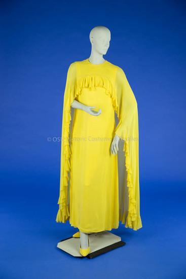 Bill Blass Yellow Chiffon Dress