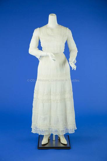 1911 White Cotton Lingerie Dress
