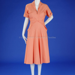 Orange/White Striped McCardell Day Dress