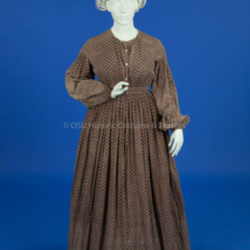 1855-1865, Purple Cotton Dress