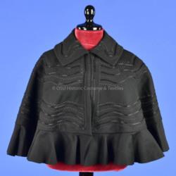 Short Black Wool Capelet