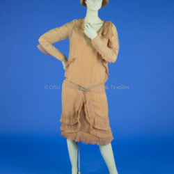 1928 Mauve Chiffon Dress