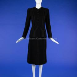 1940s Black Wool Suit