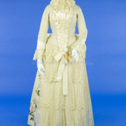 1880s Wool and Silk Wedding Dress