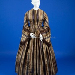 1855-1865, Silk Striped Dress