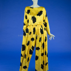 Bill Blass Yellow/Black Silk Ensemble