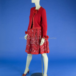 Adolfo Red Skirt Ensemble