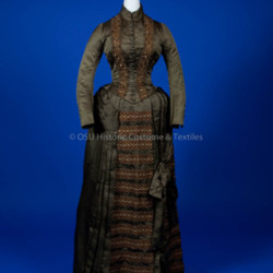 1880's Brown Silk Dress