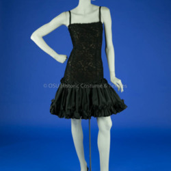 De La Renta Black Lace Dress