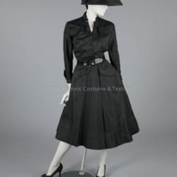 1948 Black Silk Christian Dior Dress