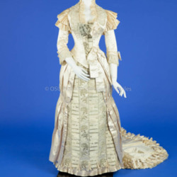 1881 Silk Beaded Wedding Dress