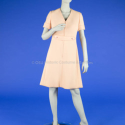 1960's Peach Double-Knit Dress