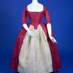 1770-1780. Red Silk Open Robe