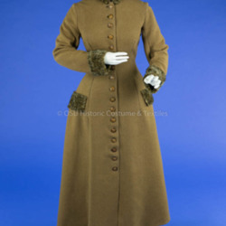 1880's Brown Wool Coat