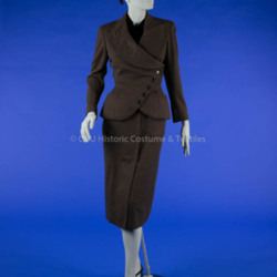 1950s Brown Dior Suit