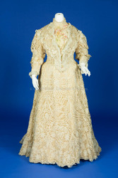 1907 Lace and Silk Wedding Dress