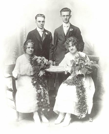 1917 Crepe Wedding Dress