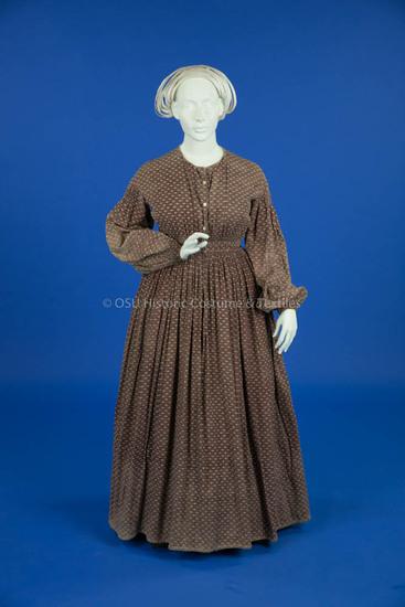 1855-1865, Purple Cotton Dress
