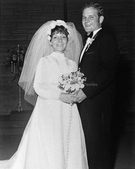 1970 Organza Wedding Dress