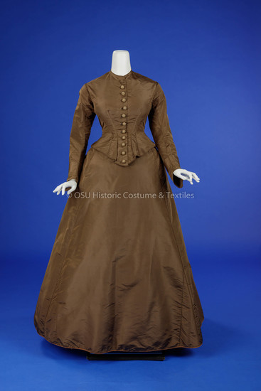 Brown Silk Day Dress