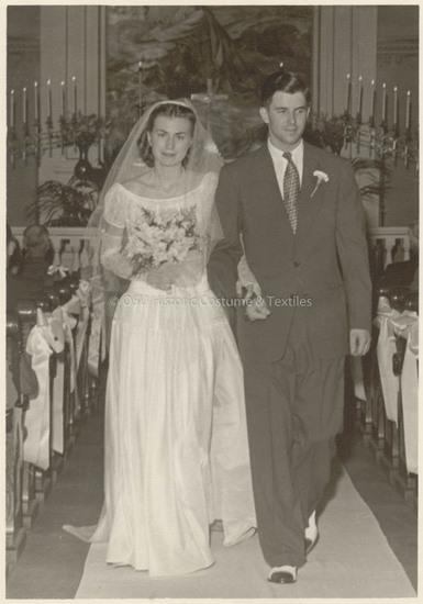 1946 Nylon Wedding Dress