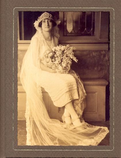 1920s White Beaded Wedding Dress