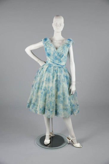 1959 Dior Boutique Blue/White Cocktail Dress