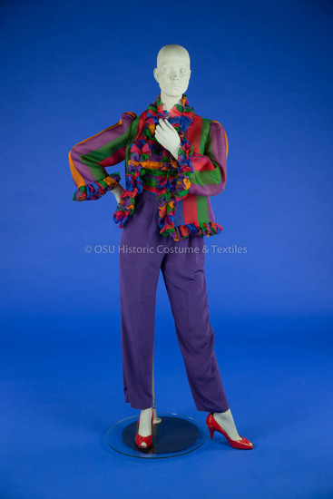 Bill Blass, Multi-Colored Pants Ensemble