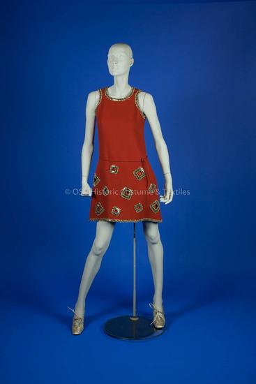 Cardin, Pierre; Rust Wool Mini Dress